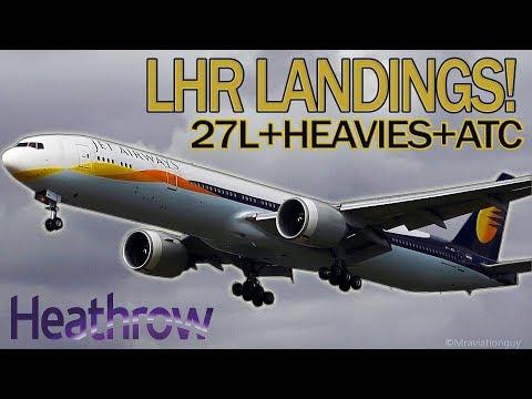 27L LANDINGS | HEAVIES AT HEATHROW AIRPORT (WITH ATC) | A380, B747, A340, B777,  A330, B787