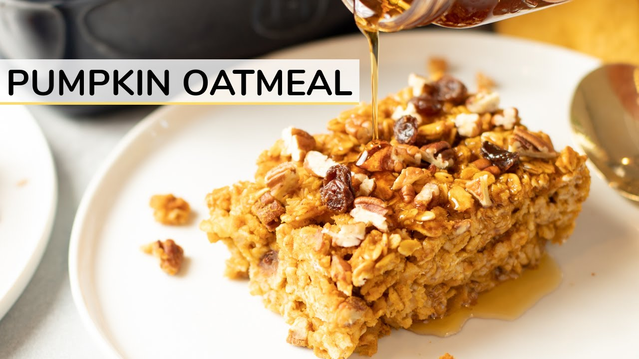 BAKED PUMPKIN OATMEAL | easy + healthy recipe