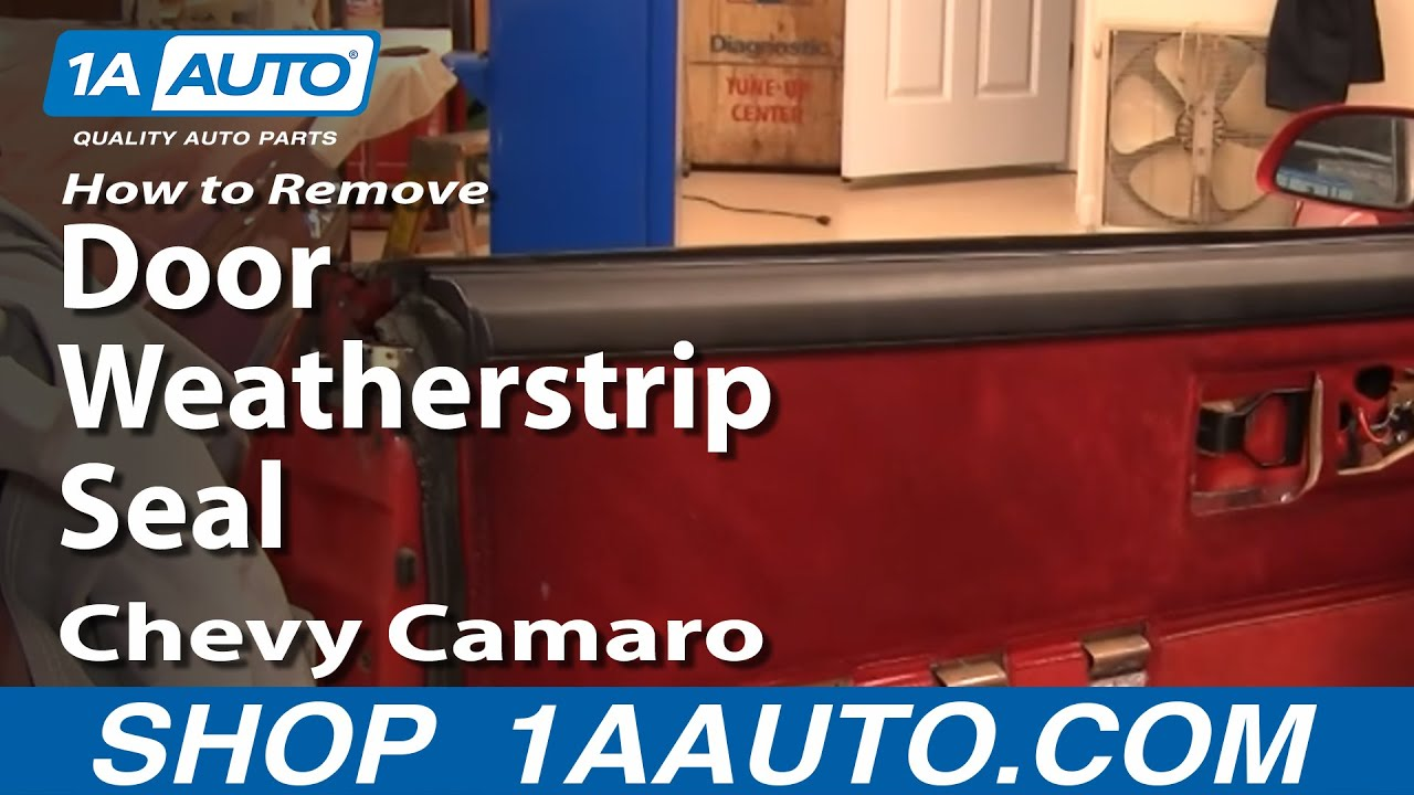 How To Remove Door Weatherstrip Seal 82 92 Chevy Camaro