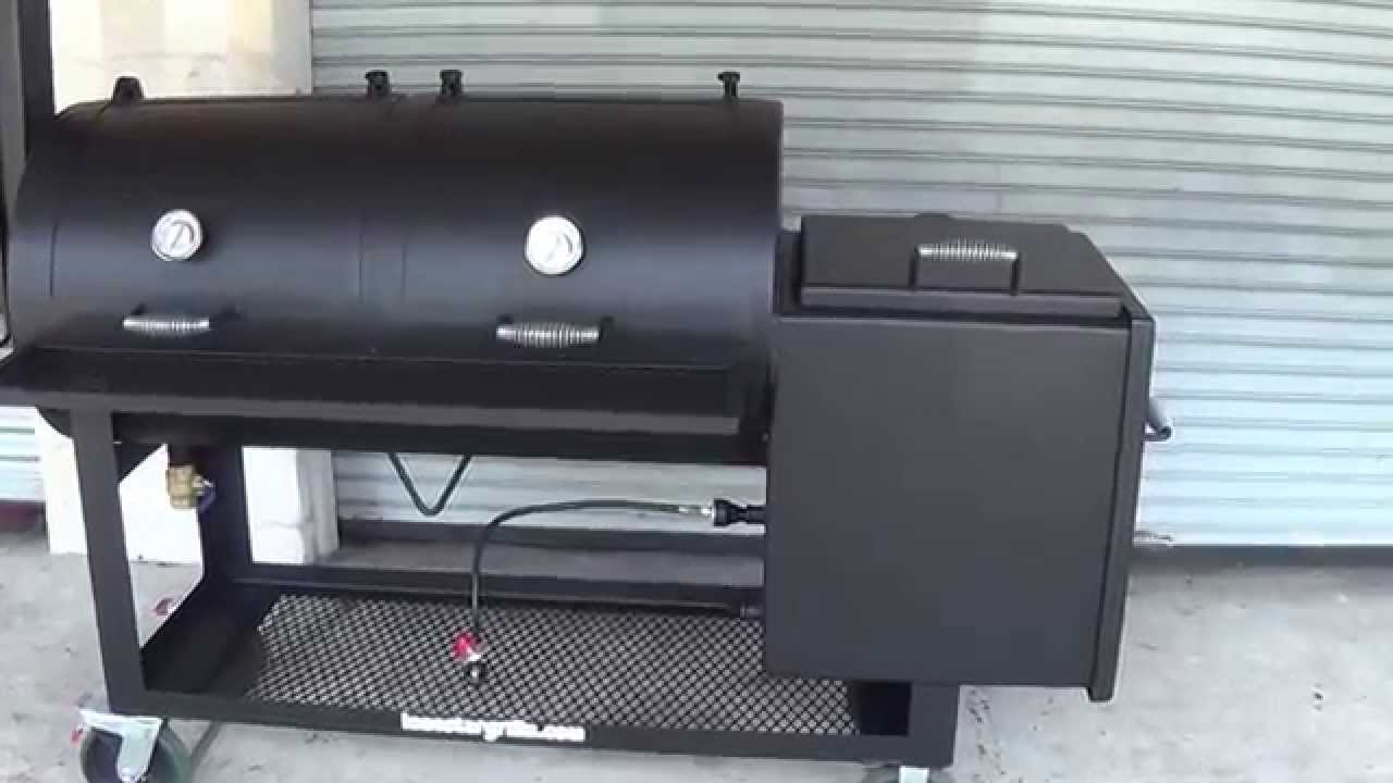 24''x48'' offset pipe smoker by Lone Star Grillz