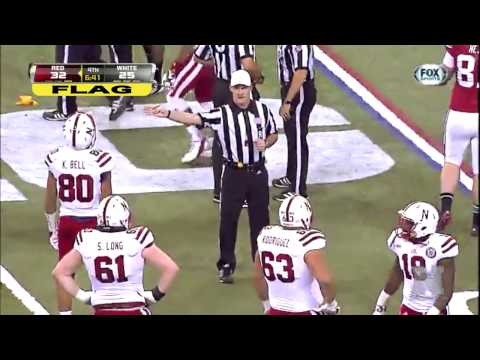 Nebraska's Jack Hoffman TD Called Back on Penalty