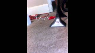 Cleaning carpet with a wet vac