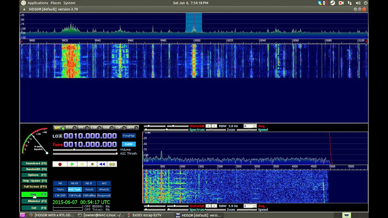 HDSDR With a RTL-SDR Using BorIP and Wine on Linux