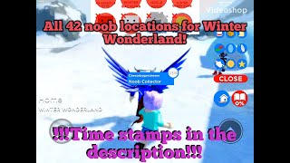 ROBLOX | Find The Noobs 2 | All 42 Winter Wonderland Locations!