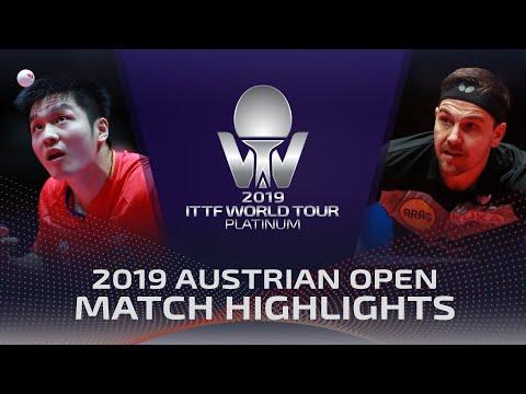 Fan Zhendong vs Timo Boll | 2019 ITTF Austrian Open Highlights (1/2)