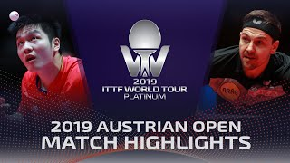 Fan Zhendong vs Timo Boll | 2019 ITTF Austrian Open Highlights (1/2)