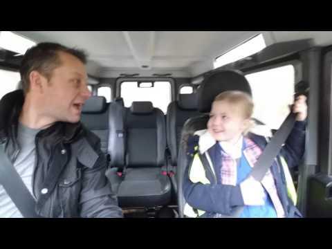 Carpool karaoke school run Livvy