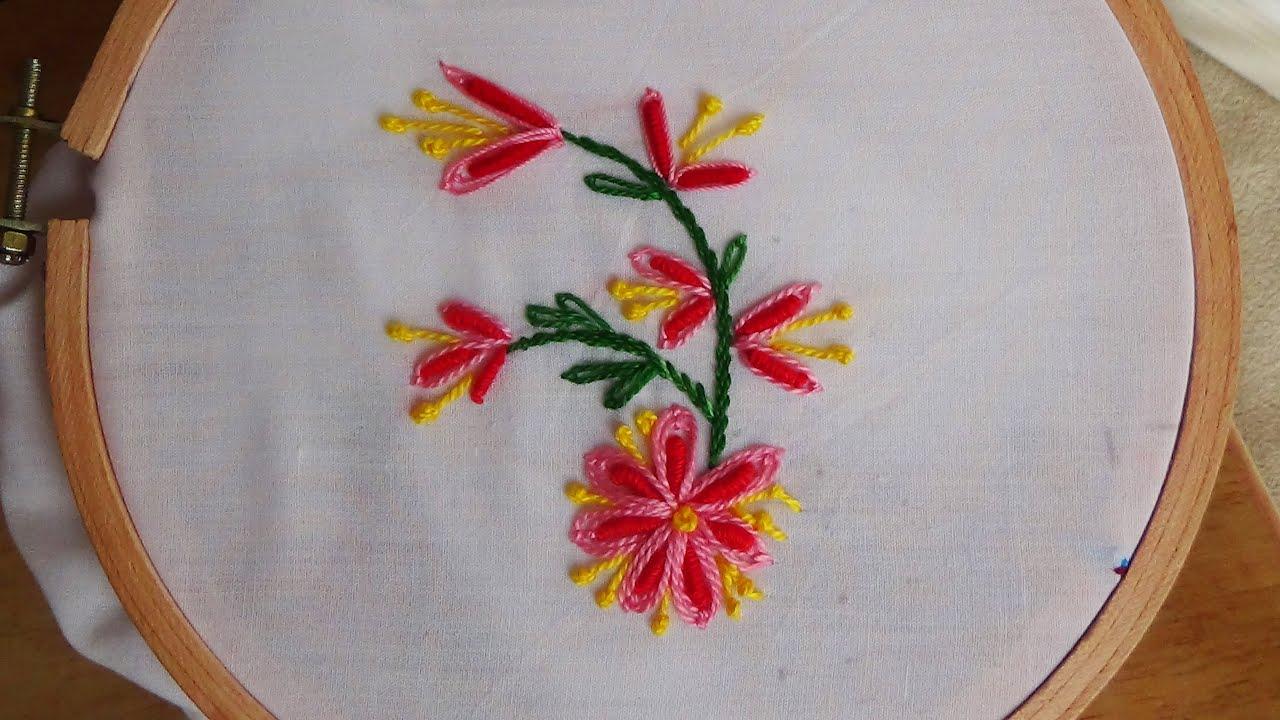 Hand embroidery bullion knot stitch variation youtube