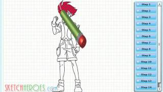 How to draw Dan Bashin (Battle Spirits Shounen Gekiha Dan) - Step by Step Drawing Tutorial