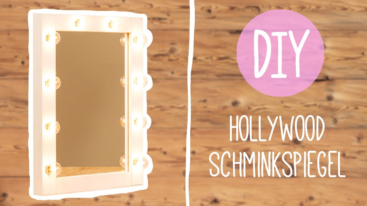 DIY mit Nina Moghaddam: Hollywood Schminkspiegel ♡ ♡ ♡ - YouTube