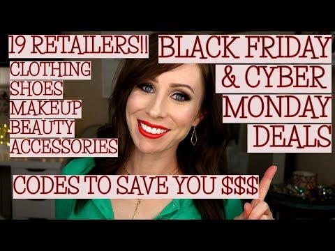 BEST BLACK FRIDAY + CYBER MONDAY 2018 DEALS | PROMO CODES!