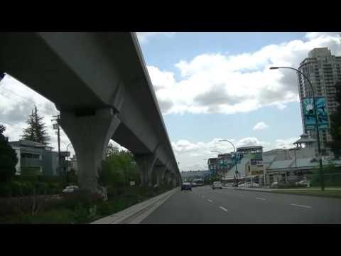 Driving in Coquitlam BC Canada - Sightseeing City Drive / Tour - British Columbia - Vancouver Suburb
