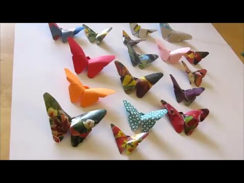 Art And Craft How To Make Origami Butterfly 2 Youtube