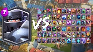 Mega Knight vs All Cards in Clash Royale | Mega Knight Gameplay.