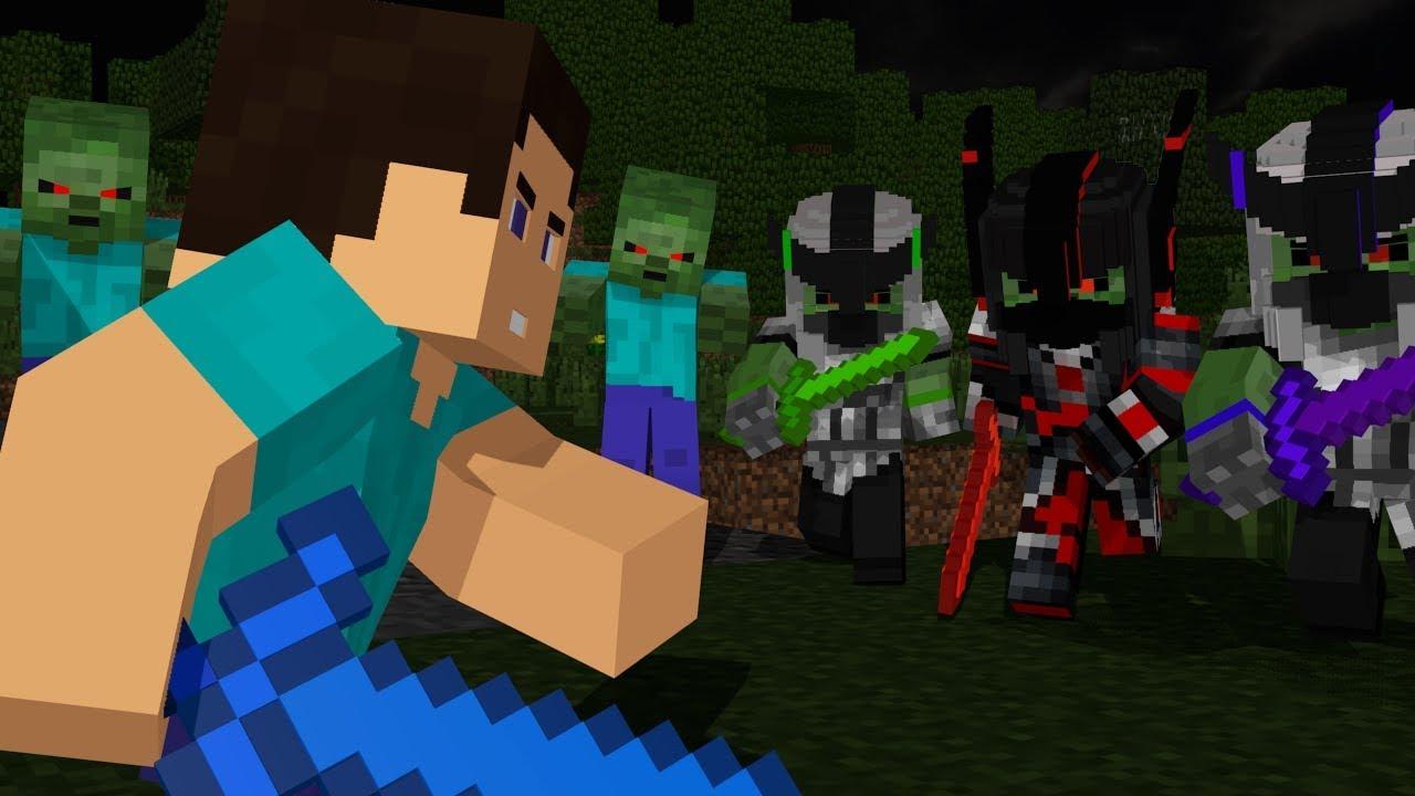 Steve Life: Full Animation - Minecraft Animation Movie (Zombie Apocalypse)