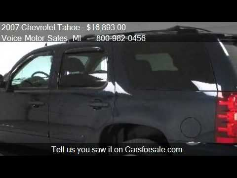 2007 chevrolet tahoe ls 4x4 for sale in kalkaska mi for Voice motors kalkaska michigan