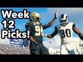 NFL Football Week 12 PICKS (ALL GAMES) Predictions, Discussion & Debate!