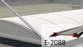 Eskade -- świetliki dachowe łukowe z poliwęglanu instrukcja montażu - animacja, wizualizacja AN-1