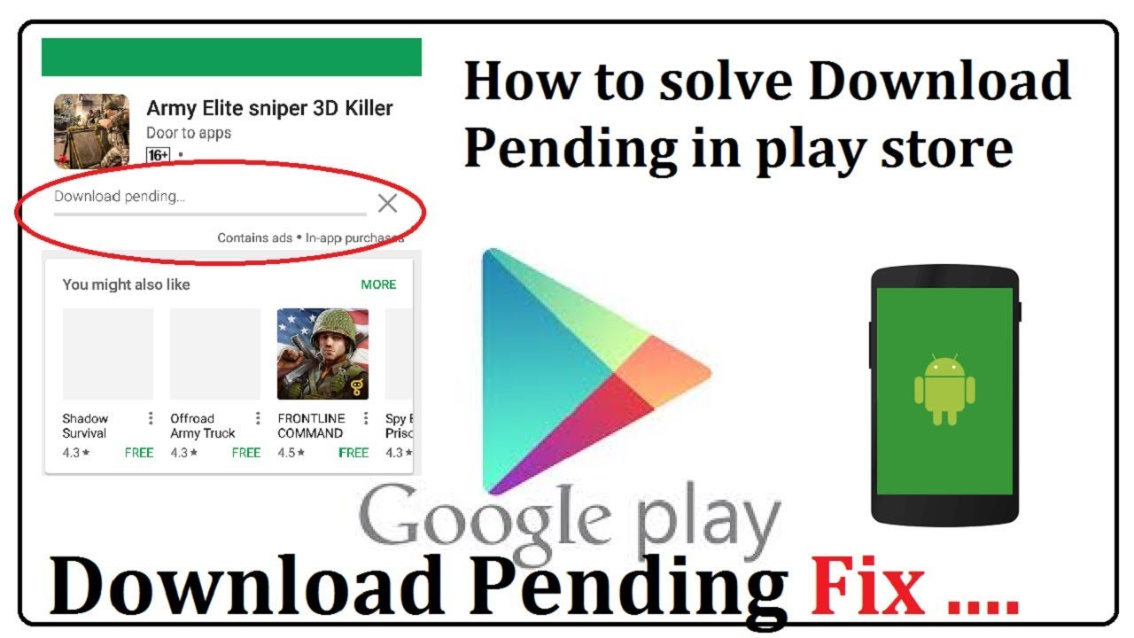 "Why Do All My apps In Google Play Store Say ""Download Pending"