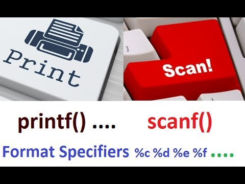 3. Printf Scanf and Format Specifier in C