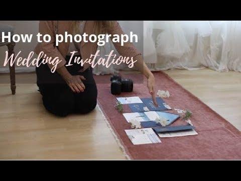 How To Shoot Wedding Invitations
