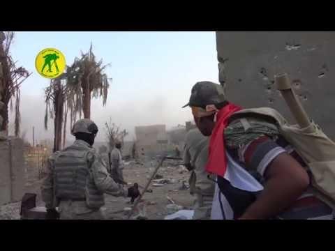 Live Combat Iraqi PMU detonate ISIS suicide bomber in Khalidiya operation