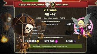 ABSOLUTEANONIMA VS AMICI MIEI 48-47 TOP CLAN WAR ITALIA |CLASH OF CLANS ITA