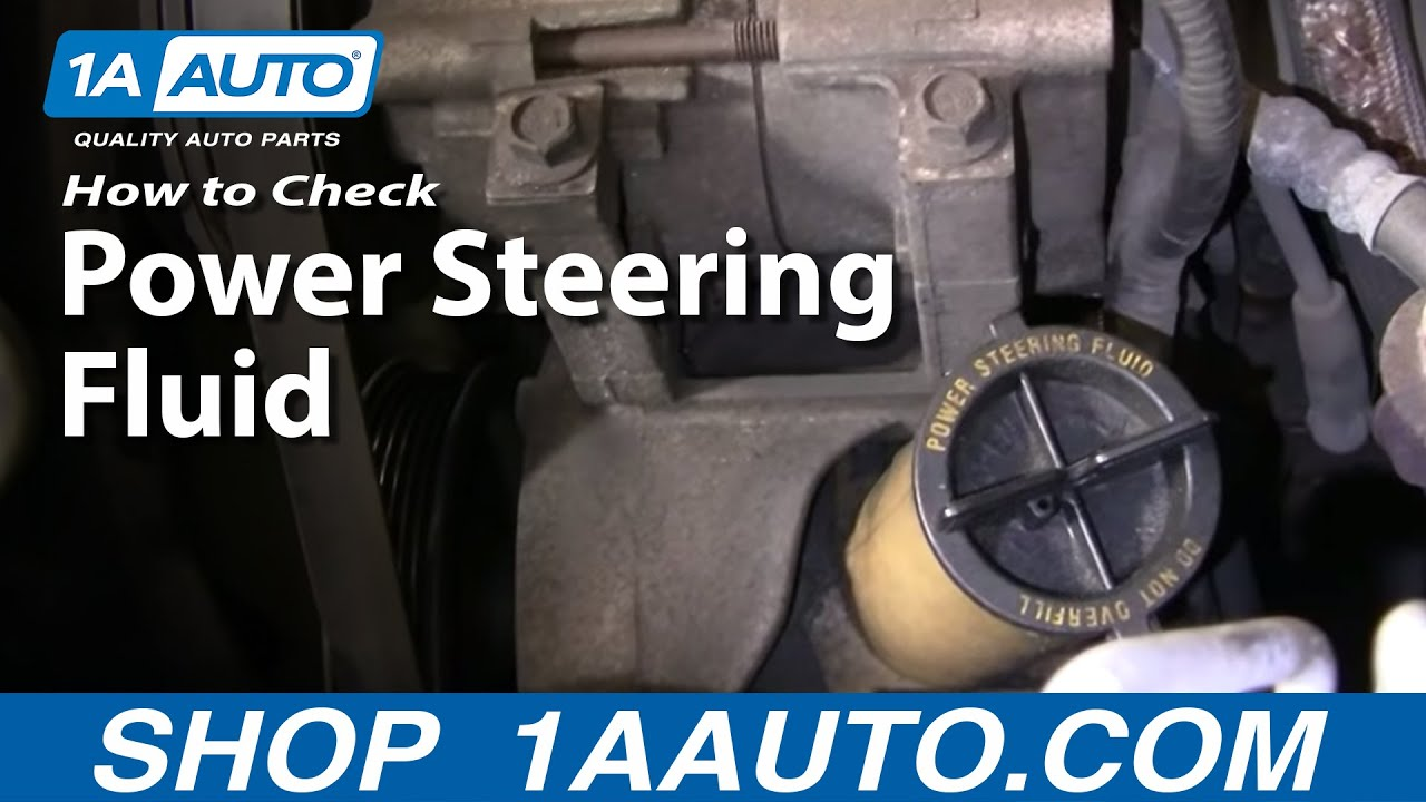 auto repair how do i check add power steering fluid to my car or truck 1aauto com [ 1280 x 720 Pixel ]