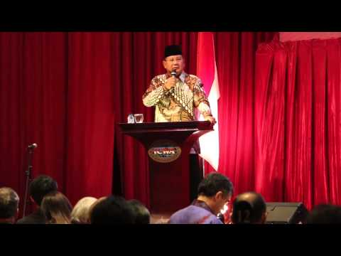 Prabowo Outlines His Foreign Policy at ICWA Public Forum | Jakarta, 31 Juni 2014