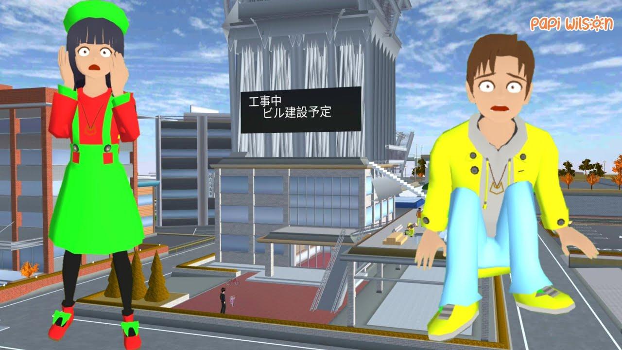Download Yuta Mio Ke Konstruksi Hotel Bu Siti Malah Jatuh Patah Kaki😱😭🦶  Sakura School Simulator  Papi Wilson