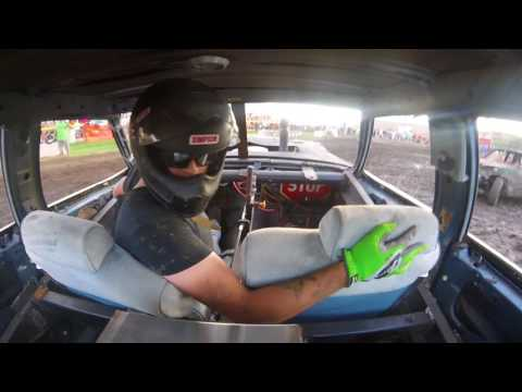 DuPage County Fair Demo Derby BS Night Heat 1 Joe Jackson In Car