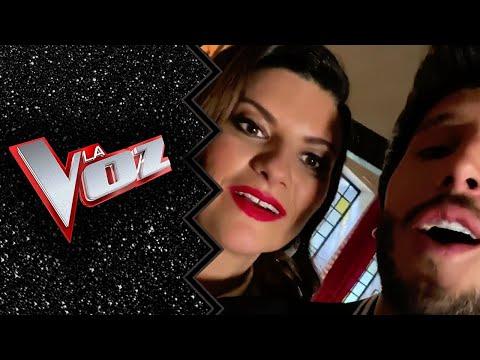 Laura Pausini y Sebastián Yatra cantando Víveme (La Voz España 2020)