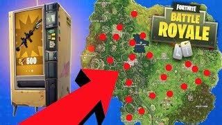 Fortnite - ALL Vending Machine LOCATIONS in Fortnite!! (Fortnite: Battle Royale)