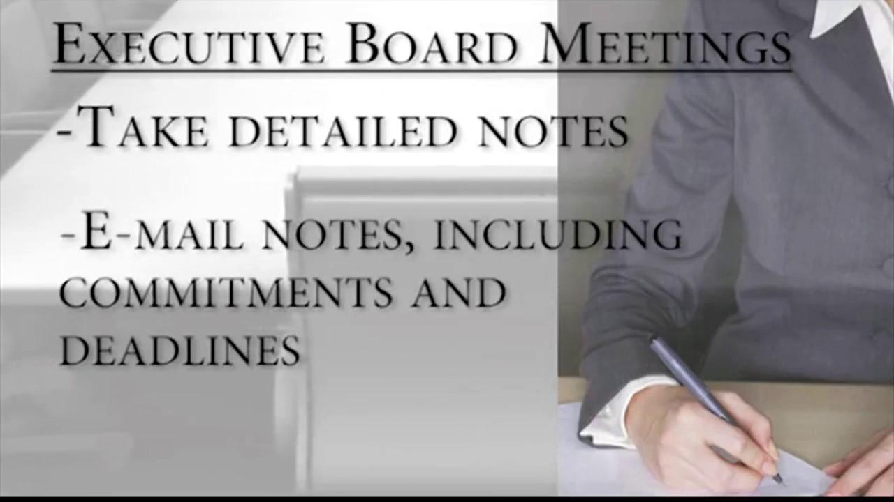 Download Executive Board Secretary 18 mp4