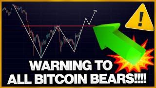 HUGE WARNING TO ALL BITCOIN BEARS!!!!!!! (Bullish Reversal Pattern ?)