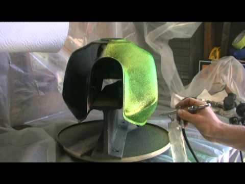 Airbrushing Trippin Metal Flake On A Xl250r Youtube