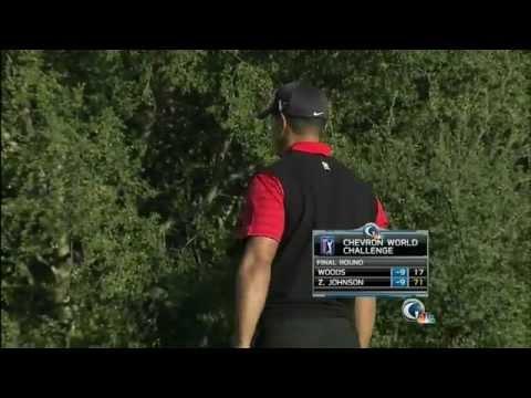 Tiger Woods Clutch Putt On 18th Chevron World Challenge (2011)