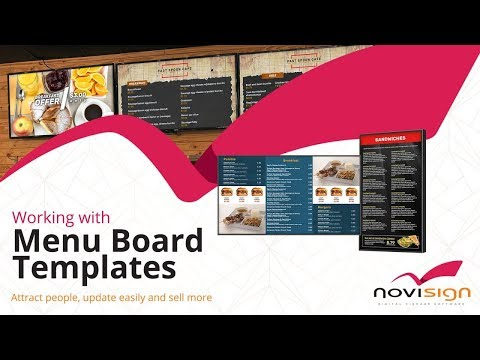 Digital Menu Boards Templates