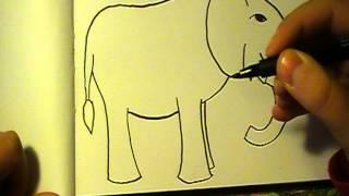 Lær at tegne EN ELEFANT | HVORDANTEGNERJEG.DK