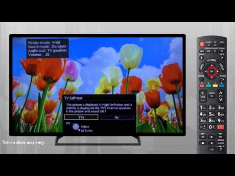 Panasonic VIERA Television - How to perform a TV Self Test