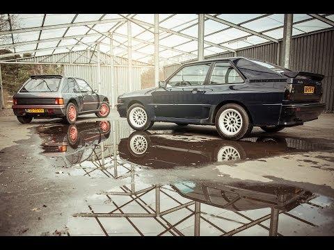 Groep B iconen Audi Sport Quattro vs Peugeot 205 T16 - Autovisie TV