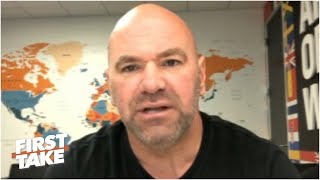 Dana White Talks Tyron Woodley Vs. Gilbert Burns, Conor Mcgregor & Rift With Jon Jones | First Take