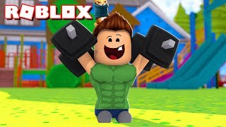 💪 WE BECOME THE BABY STRONGER FROM ROBLOX