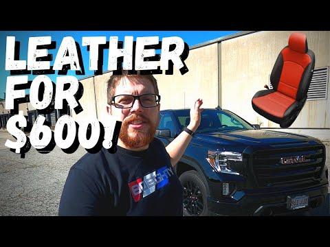 $600 Leather for 2019/2020Chevy Silverado, GMC Sierra Crew Cab Double – Katzkin Seat Cover Install