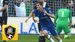 Marcos Alonso breaks deadlock gets Chelsea in front against Newcastle  Premier League  NBC Sports