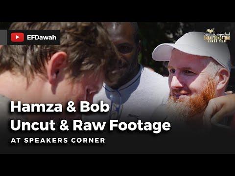 Hamza & Bob | Uncut & Raw Footage | Speakers Corner
