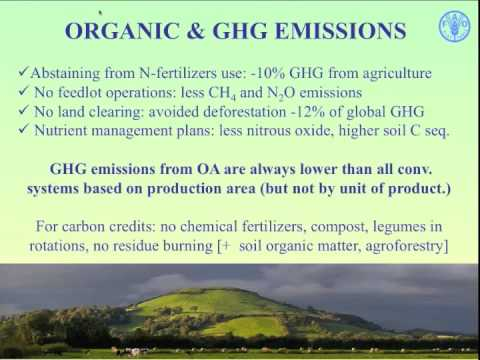 a look at organic agriculture and its contribution to global food production