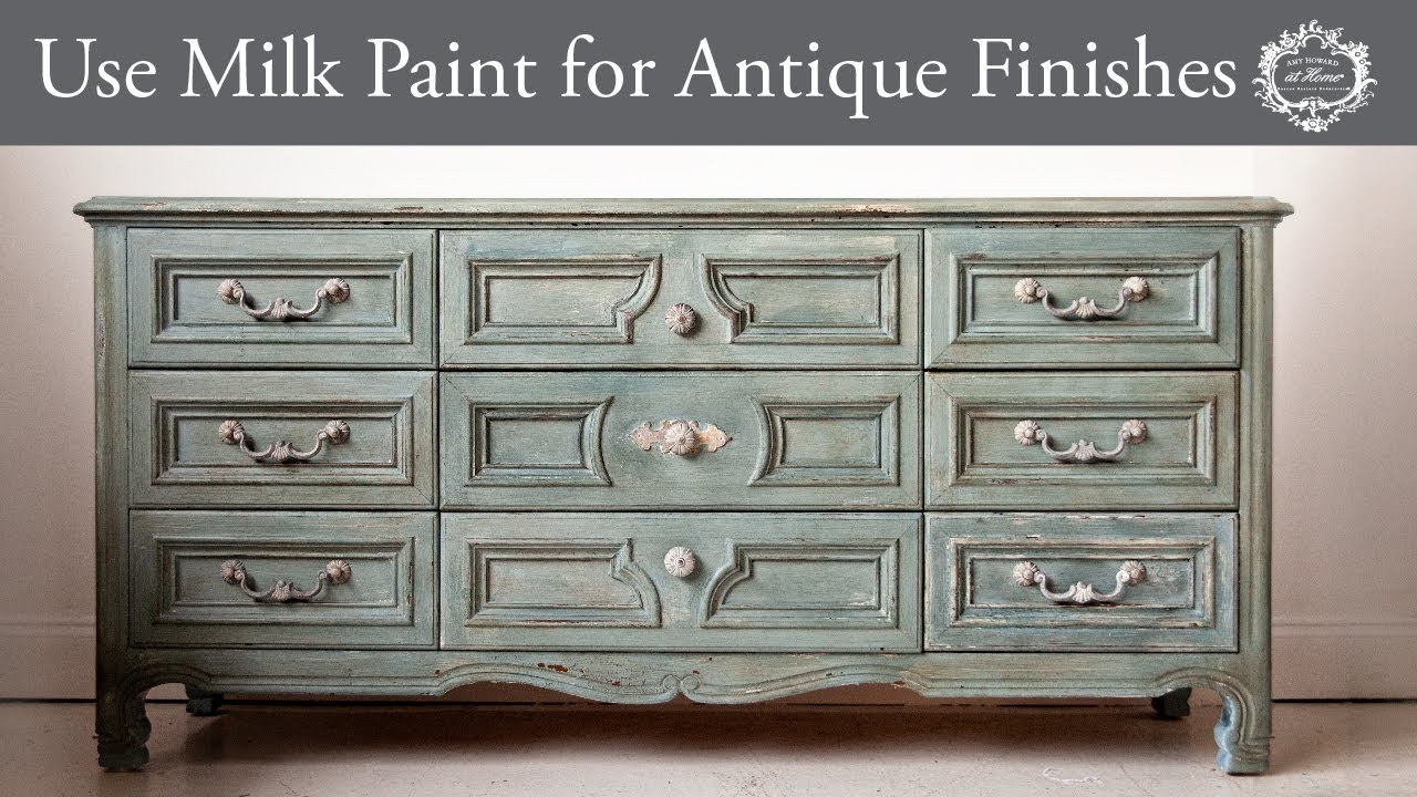 How To Use Milk Paint And Cracked Gesso For Aged Antique Finishes Youtube