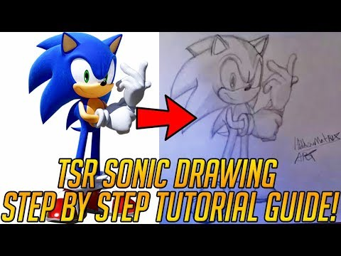 How To Draw Sonic Step By Step Tutorial Modern Sonic The Hedgehog Youtube