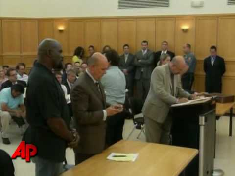 Raw Video: Taylor Arraigned on Rape Charges